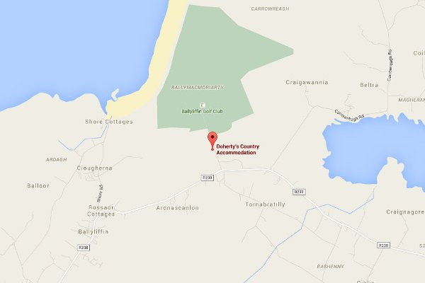 Doherty's Country Accommodation on the map